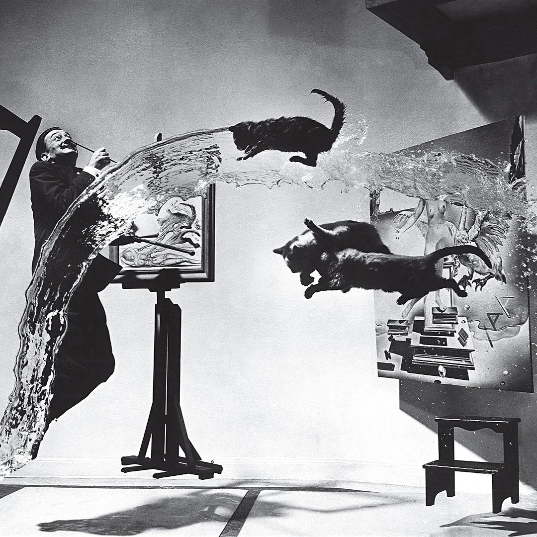 Így készült a legendás fotó Dalíról és a repülő macskákról